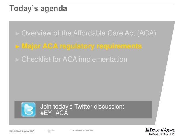 The Affordable Care Act – overview, regulatory ...