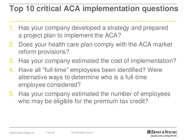 FAQS ABOUT AFFORDABLE CARE ACT IMPLEMENTATION (PART …