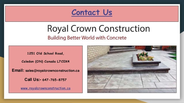 Affordable concrete contractors company in Toronto