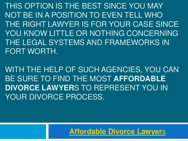THIS OPTION IS THE BEST SINCE YOU MAY NOT BE IN A POSITION TO EVEN TELL WHO THE RIGHT LAWYER IS FOR YOUR CASE SINCE YOU KN...