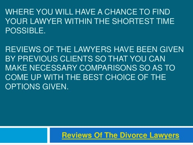 WHERE YOU WILL HAVE A CHANCE TO FIND YOUR LAWYER WITHIN THE SHORTEST TIME POSSIBLE. REVIEWS OF THE LAWYERS HAVE BEEN GIVEN...