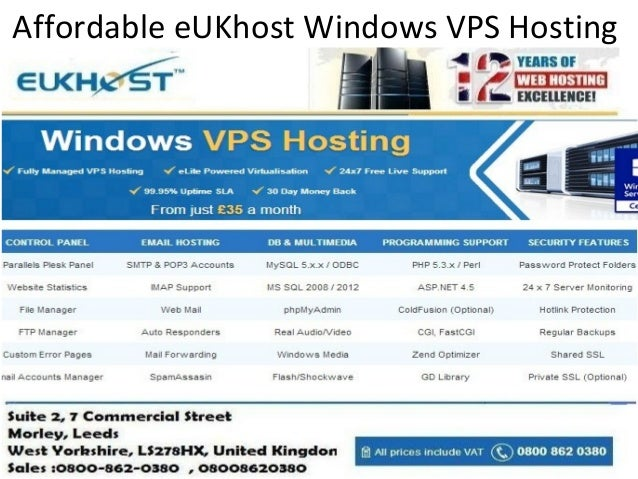 Affordable eukhost windows vps hosting services for Affordable windows