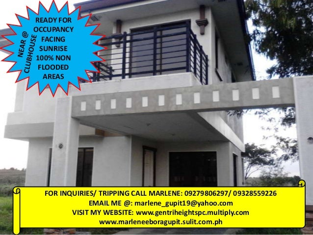 READY FOROCCUPANCY   FACING  SUNRISE 100% NON FLOODED   AREAS  FOR INQUIRIES/ TRIPPING CALL MARLENE: 09279806297/ 09328559...