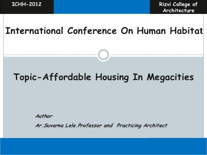 ICHH-2012                                            Rizvi College of                                                     ...