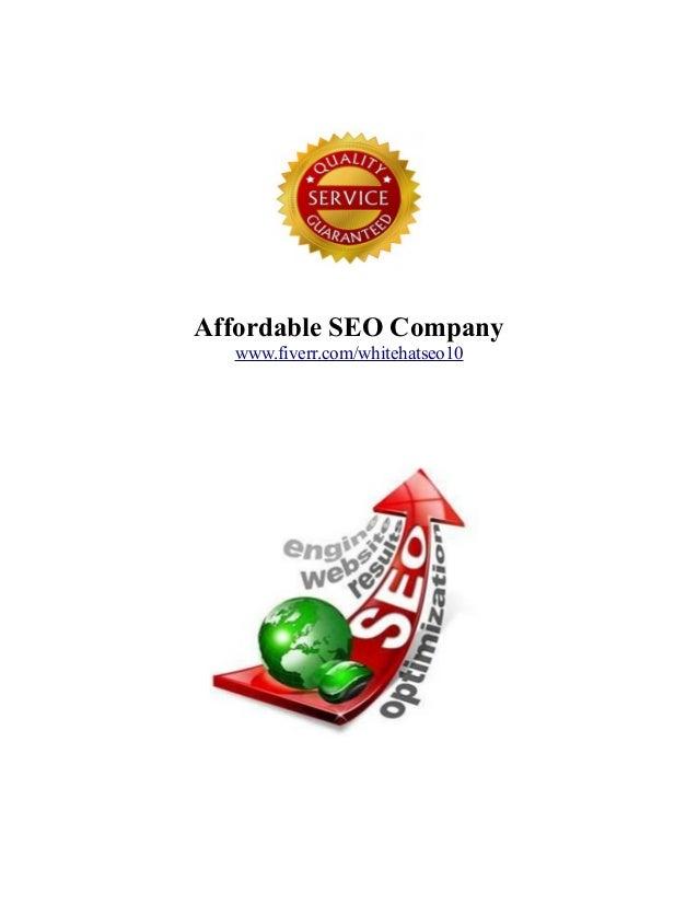 Affordable SEO Company www.fiverr.com/whitehatseo10