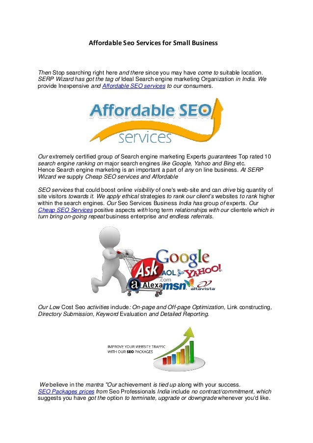 Affordable seo services for small business