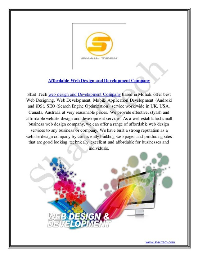 www.shailtech.com Affordable Web Design and Development Company Shail Tech web design and Development Company based in Moh...