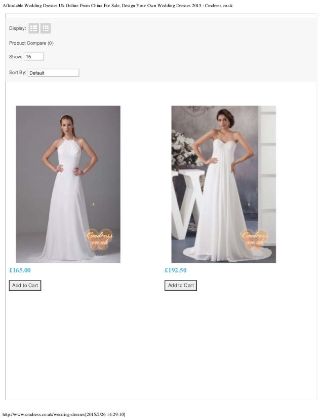Affordable wedding dresses uk online from china for sale for Design own wedding dress