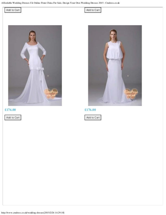 Affordable wedding dresses uk online from china for sale, design your…