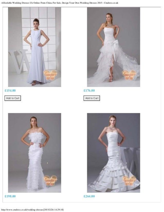 Affordable wedding dresses uk online from china for sale for Online wedding dresses for sale