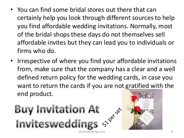 Affordable wedding invitations simple ways to get them for Affordable wedding invitations near me