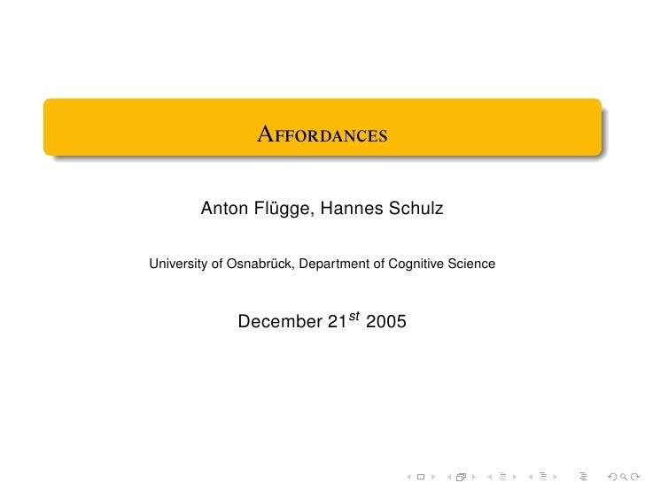 A          Anton Flügge, Hannes Schulz  University of Osnabrück, Department of Cognitive Science                ...