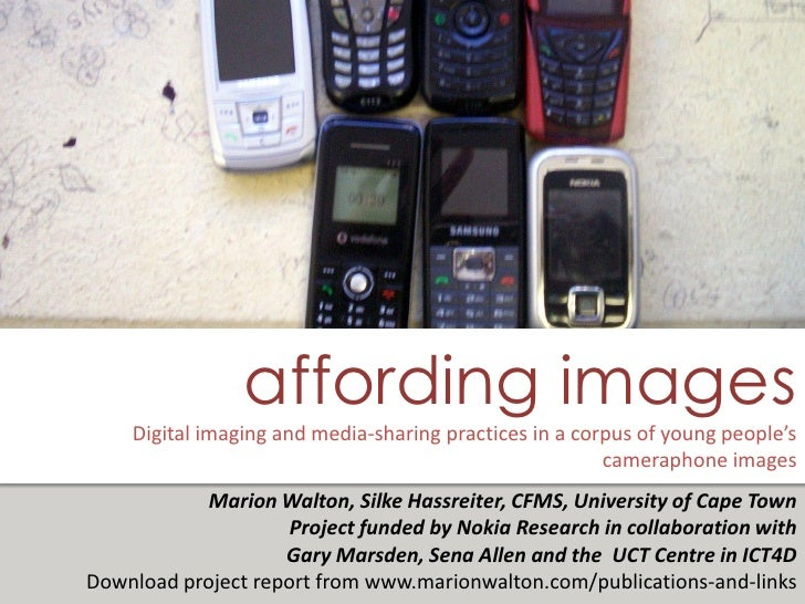 affording images     Digital imaging and media-sharing practices in a corpus of young people's                            ...