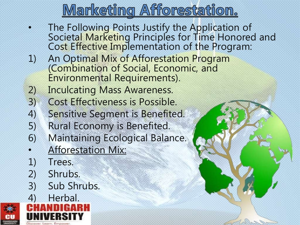 advantages as well as down sides associated with reforestation