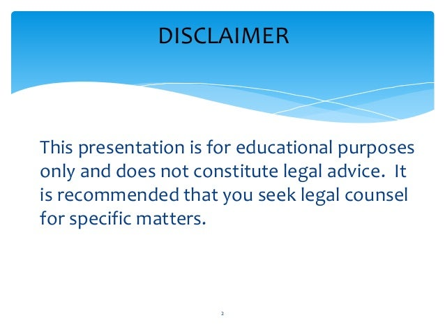 Reality tv law 101 for Disclaimer template uk