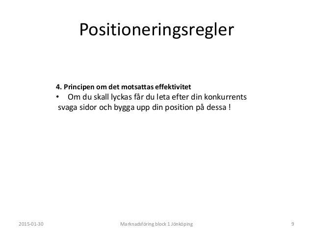 Placera dina produkter i den ruta du tycker passar bäst. 2015-01-30 Marknadsföring block 1 Jönköping 11 Hög pris Lågt pris...