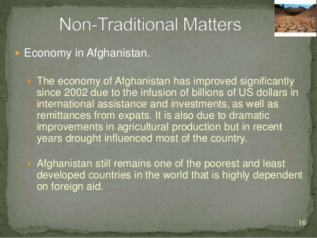  Economy in Afghanistan.  About half the population suffer from shortages of housing, clean drinking water, electricity ...