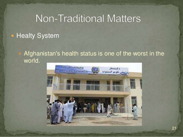  Healty System  At the end of the conflict, what was left of the health system was characterized by: inadequate infrastr...