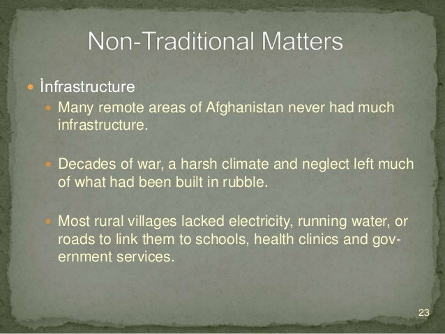 İnfrastructure  Without electricity, businesses could not operate machinery.  Households had no running water for drin...