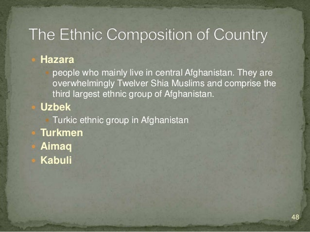  Arab  Kyrghyz  Wakhi  Nuristani  The Nuristani people are an Indo-Iranian-speaking ethnic group native to the Nurist...