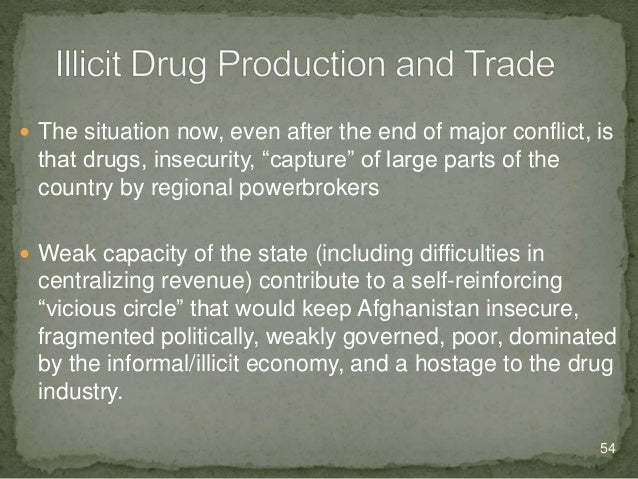  Opium cultivation and trade  Powerless government  Ethnic division  Instability economy  Disagreement with Taliban a...