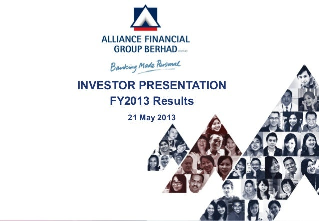 INVESTOR PRESENTATIONFY2013 Results21 May 2013
