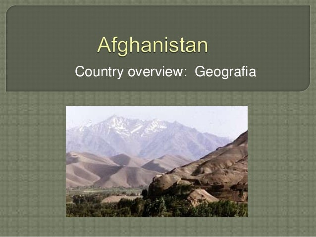 Country overview: Geografia