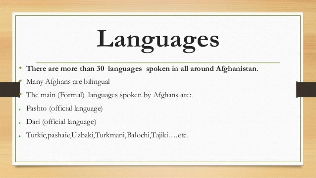 how to say hello in afghanistan language