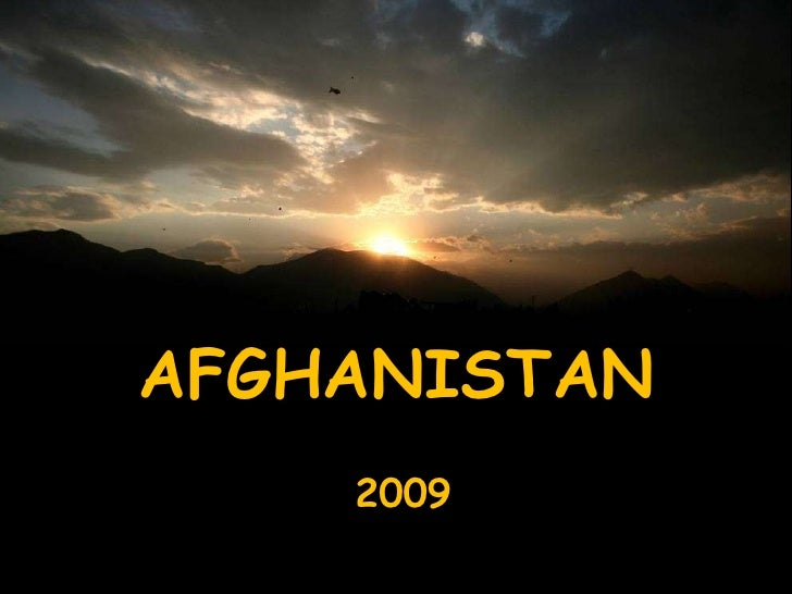 2009 AFGHANISTAN