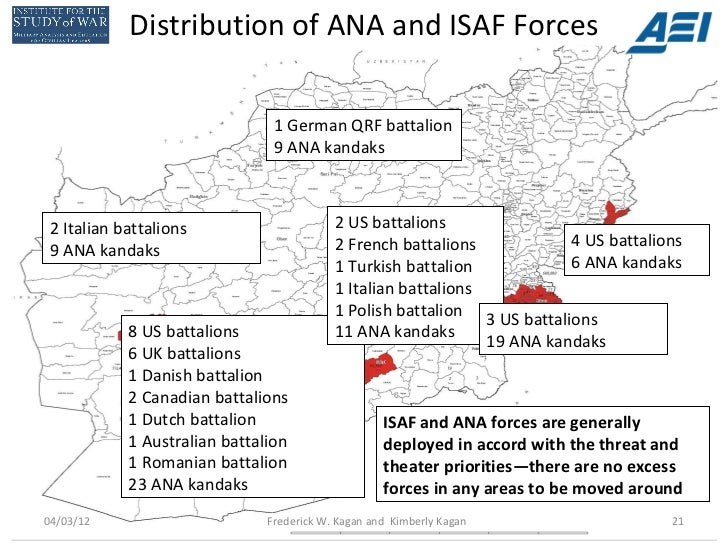 Distribution of ANA and ISAF Forces                                1 German QRF battalion                                9...