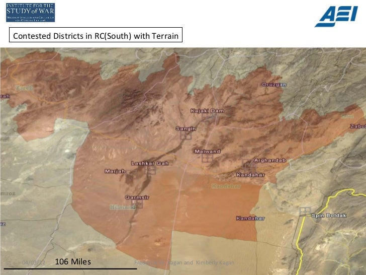 Contested Districts in RC(South) with Terrain  04/03/12   106 Miles          Frederick W. Kagan and Kimberly Kagan   23