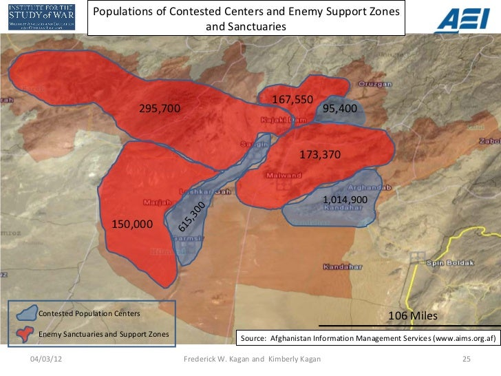Populations of Contested Centers and Enemy Support Zones                                      and Sanctuaries             ...