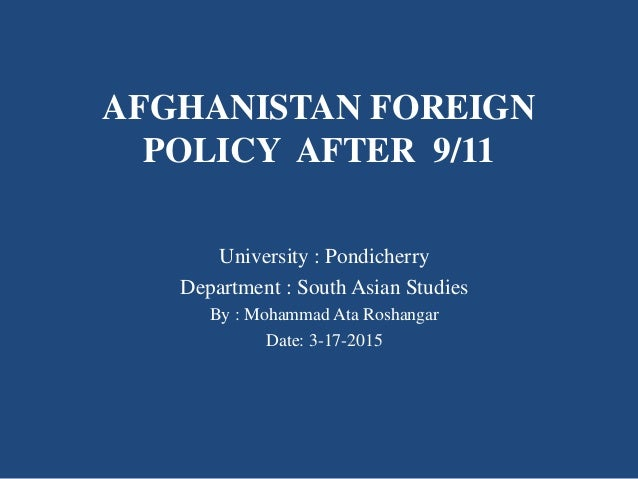 pakistan foreign policy towards afghanistan thesis Journal of political studies, vol 20, issue - 2, 2013, 59:89 an analytical study of pakistan's policy toward afghanistan before the.