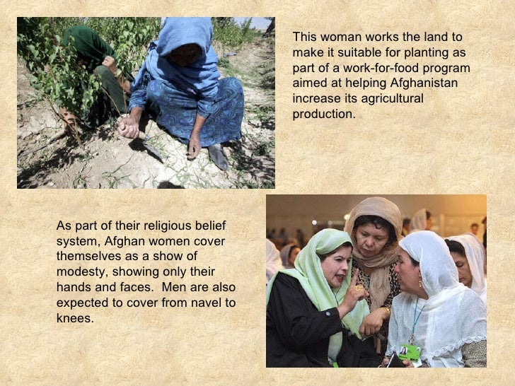 This woman works the land to make it suitable for planting as part of a work-for-food program aimed at helping Afghanistan...