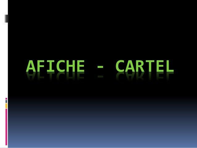 AFICHE - CARTEL
