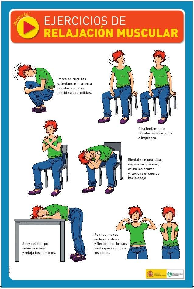 Afiche ejercicios de relajamiento muscular for Que son tecnicas de oficina