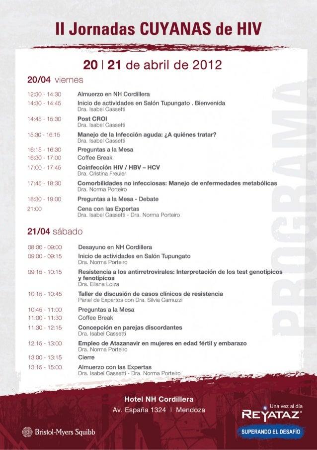 Afiche ii jornadas cuyanas hiv 2012