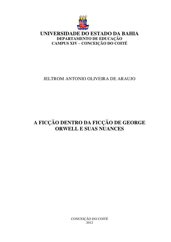 0  UNIVERSIDADE DO ESTADO DA BAHIA        DEPARTAMENTO DE EDUCAÇÃO      CAMPUS XIV – CONCEIÇÃO DO COITÉ   JELTROM ANTONIO ...