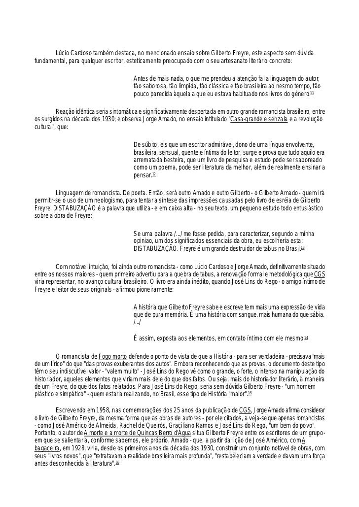 A ficção do real em Gilberto Freyre