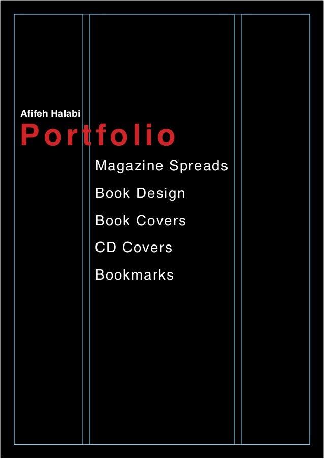 Portfolio Afifeh Halabi Magazine Spreads Book Design Book Covers CD Covers Bookmarks