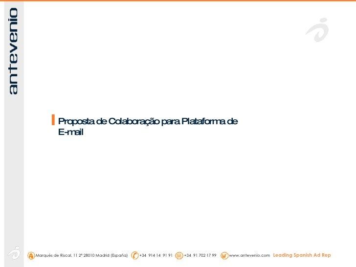 Proposta de Colaboração para Plataforma de E-mail