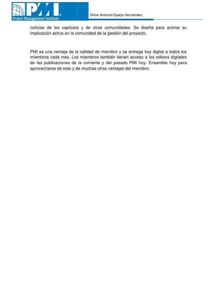 Omar Antonio Espejo Hernández.noticias de los capítulos y de otras comunidades. Se diseña para animar suimplicación activa...
