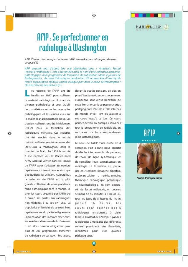 29 Nadya Pyatigorskaya AFIP ......... AFIP:Seperfectionneren radiologieàWashington AFIP. Chacun de vous a probablement déj...