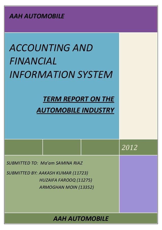 ACCOUNTING AND FINANCIAL INFORMATION SYSTEM APPLIED ON THE AUTOMOBILE…
