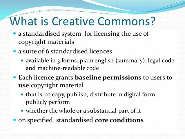 Copyright and Open Content Licensing: the role of the Creative Common…
