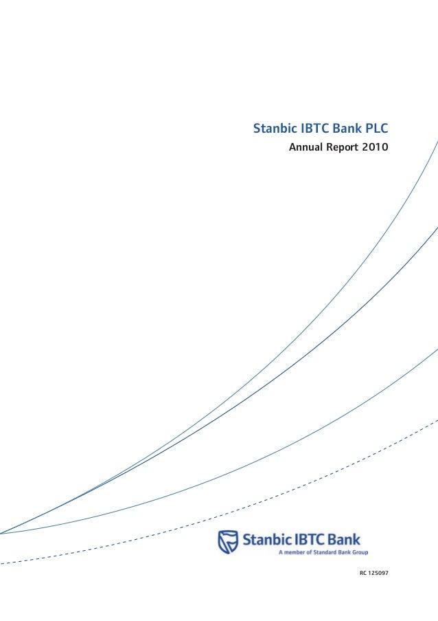 Stanbic IBTC Bank PLC Annual Report 2010 RC 125097