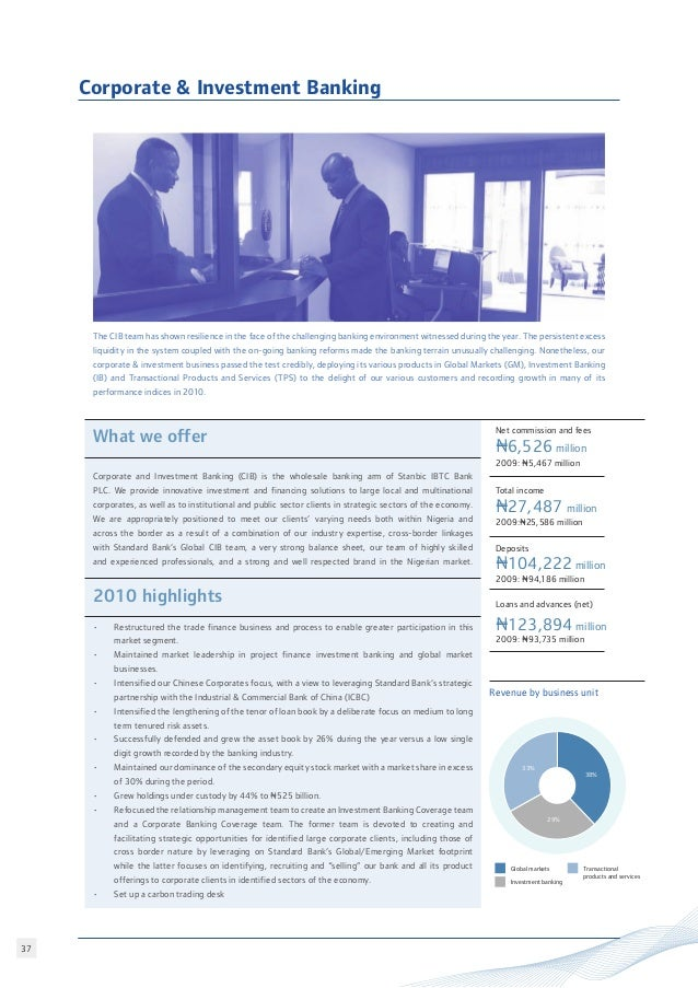 Stanbic ibtc annual report 2010