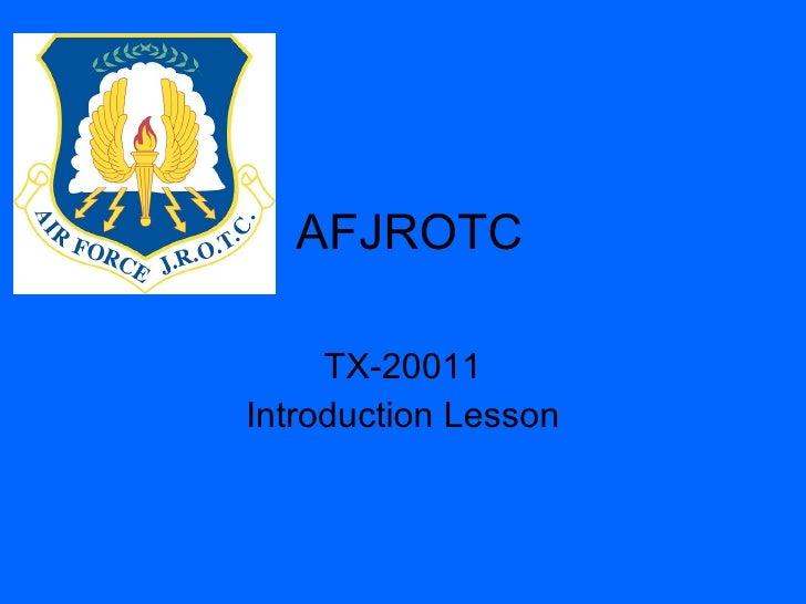 AFJROTC TX-20011 Introduction Lesson