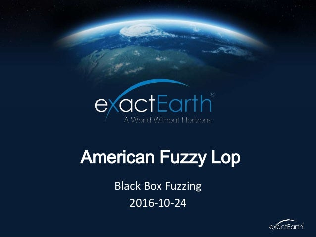Black Box Fuzzing 2016-10-24