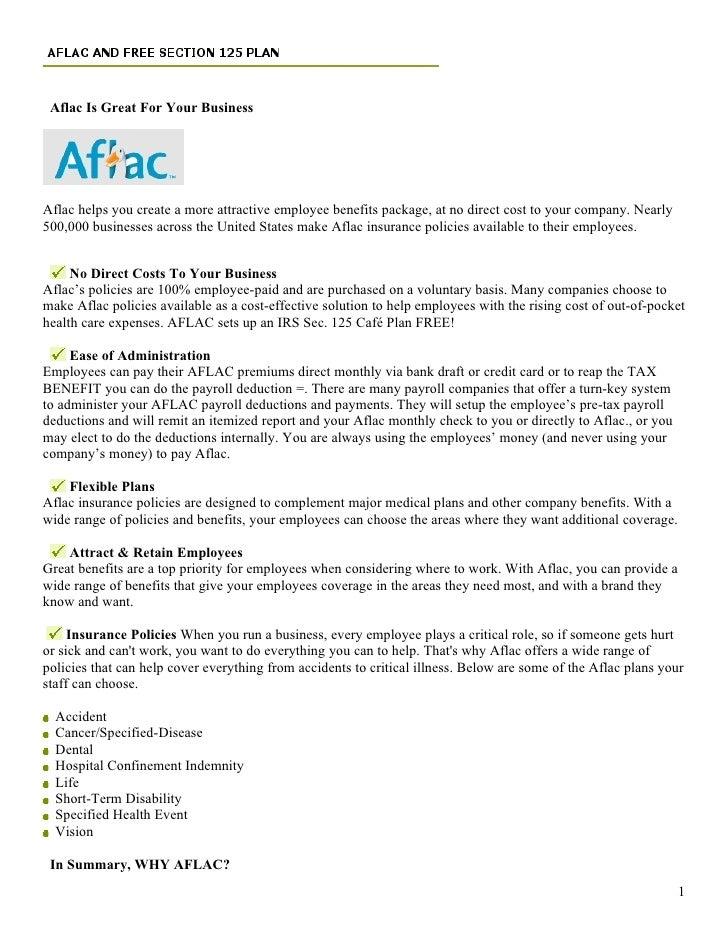 Aflac Voluntary Benefits Benefits